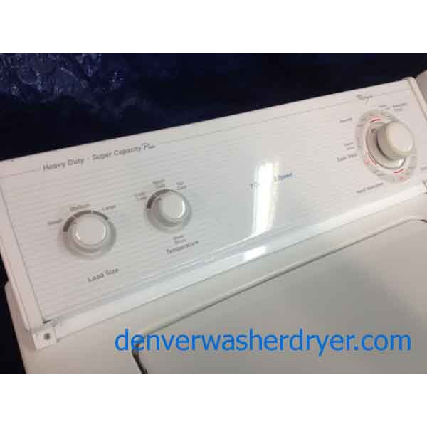 Whirlpool Apartment Size Washer And Dryer: Whirlpool Washer/Dryer, Super Capacity Plus, Heavy Duty
