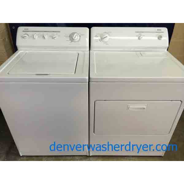 Kenmore 80 Series Washer/Dryer, Matching, Super Capacity