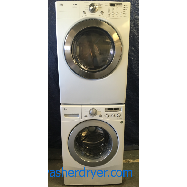 Lg Stackable Washer And Dryer gas* lg tromm front load stackable washer and dryer! - #2665