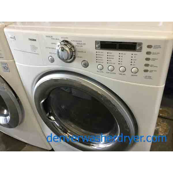 Lg Front Load Washer Dryer Set Stackable 220v Steam Sanitary Cycles