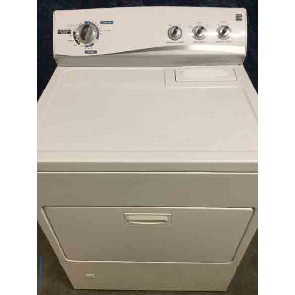 Kenmore Gas Dryer Automatic Moisture Sensing 29 Wide White