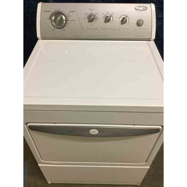 Superb Whirlpool Dryer, White, Electric, Fully-Featured, 27″ Wide, 1-Year Warranty