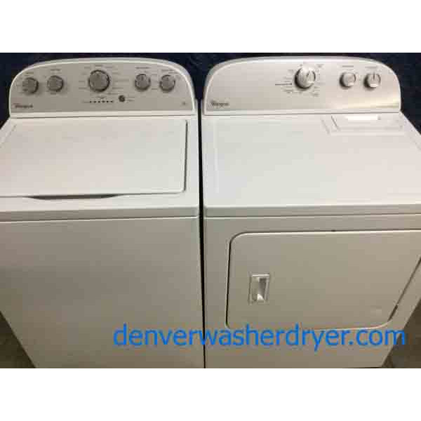 2017 Model Whirlpool Laundry Set, HE, Electric Dryer, Scratch/Dent Special