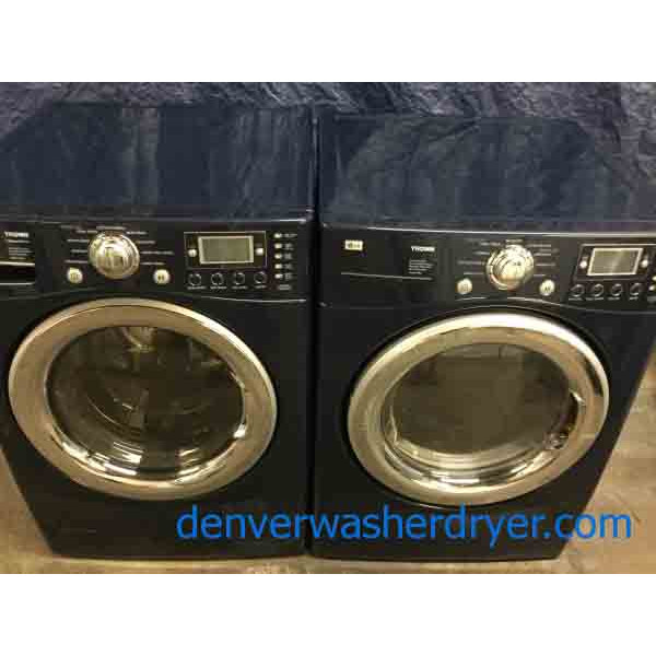 Beautiful Blue Lg Front Load Washer Electric Dryer