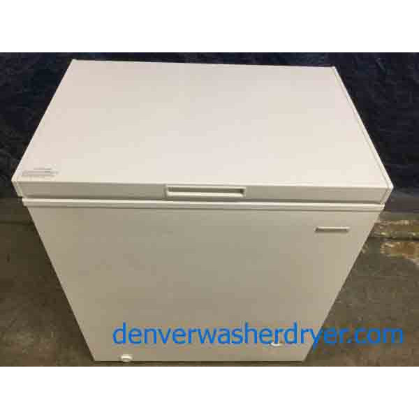 Gently Used Chest Freezer, 5 Cu. Ft. by Insignia, White, Working Perfectly