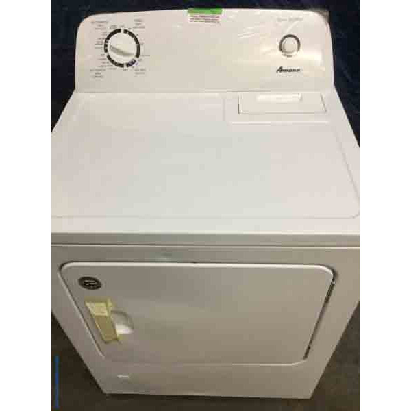 Brand-New Gas Dryer, Amana(Maytag) White, 29″ Wide, Gas/LP, Super Capacity!