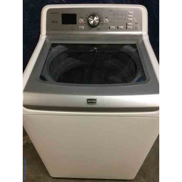 Maytag Bravos XL Washing Machine, HE, Energy Star, Power Wash System, Direct-Drive Top-Load