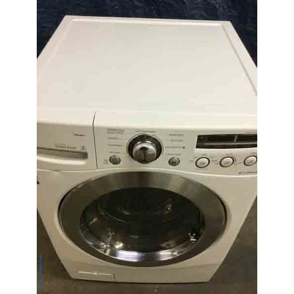 LG Front-Load Washing Machine, Steam & Sanitary Cycles, 4.5 Cu.Ft, in White, Direct-Drive