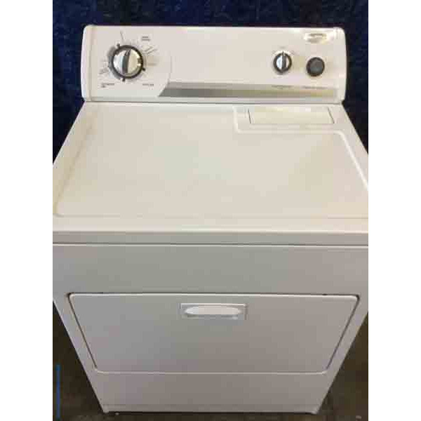 Wonderful Whirlpool Dryer, Electric, 29″ Wide, White, Quality Refurbished!