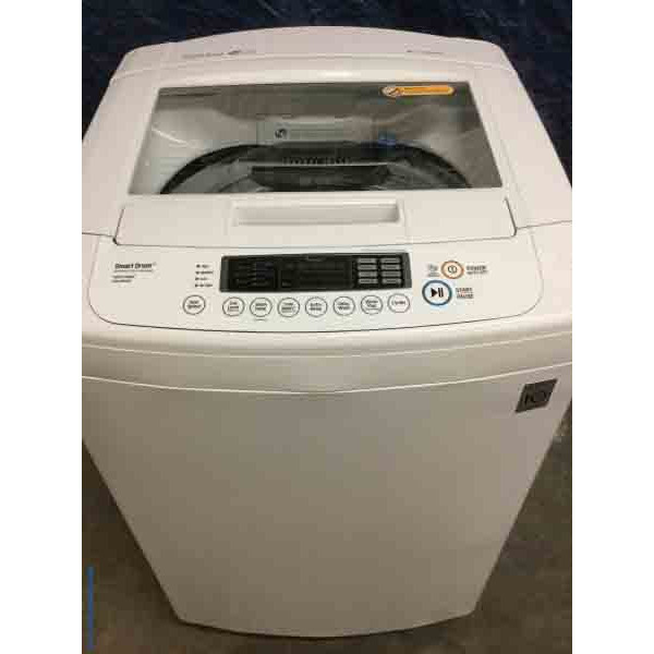 25″ LG Top-Load Direct-Drive Washer, High Efficiency, Front Control, 3.4 Cu. Ft.