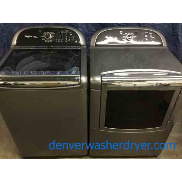Solid Whirlpool Cabrio Platinum Direct-Drive Laundry Set, High End,