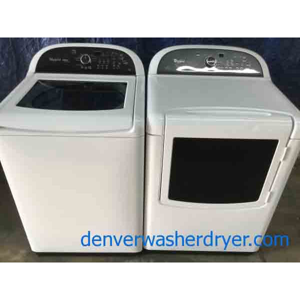 High-End Whirlpool Cabrio Platinum Direct-Drive Washer, Electric Dryer, Energy Star