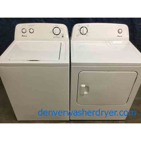 Amana(Maytag) Washer|Dryer Set, Full-Size, White, Electric, 1-Year Warranty!