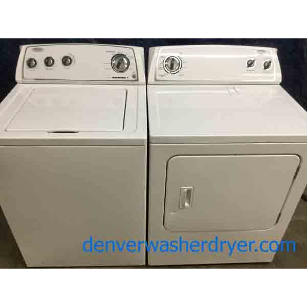 Wonderous Whirlpool Washer Dryer Set, Super Capacity, 1-Year Warranty!