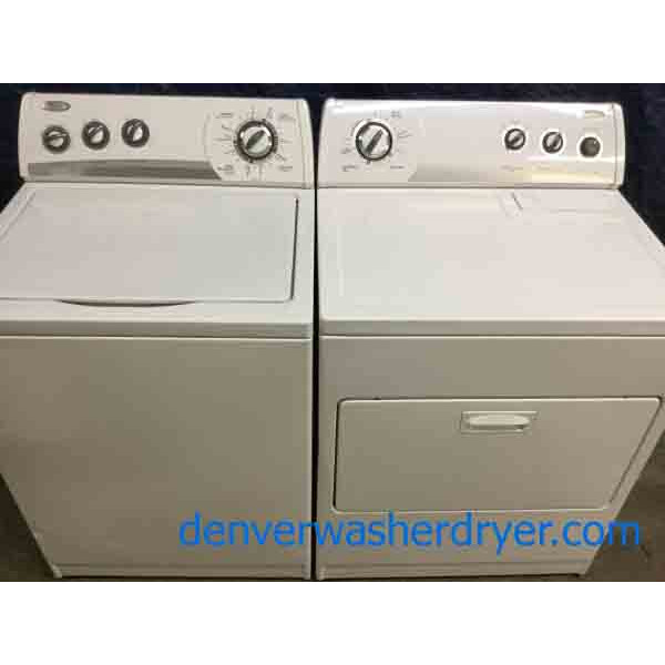 Direct-Drive Whirlpool Washer, Electric Dryer, Super Capacity, Heavy-Duty, Quality Refurbished Appliances