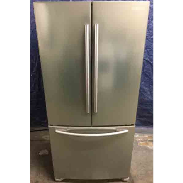 New 20 Cu Ft French Door Refrigerator Stainless 32 Wide By