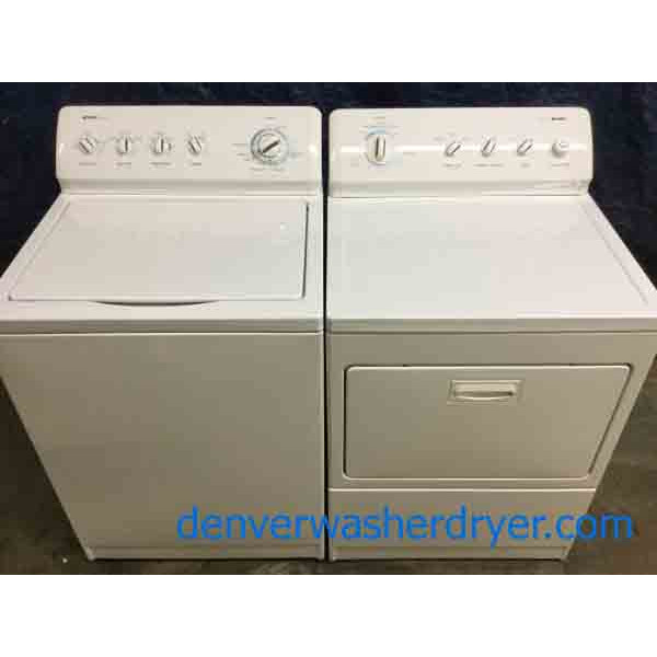 Heavy-Duty Kenmore 800 Series Washer Dryer Set, Electric, King Size Capacity!
