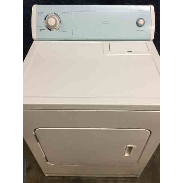 Extra Large Capacity Electric Dryer by Whirlpool, Slim 26″ Depth