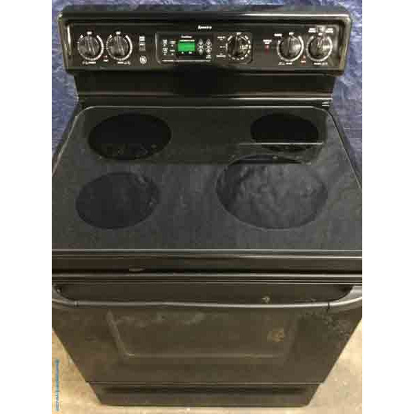 Discount Glass-Top Electric Range, 30″ GE Spectra in Black