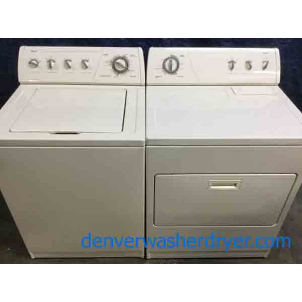 Commercial Quality Whirlpool Laundry Set, Almond Color, Direct-Drive, Electric, 1-Year Warranty!