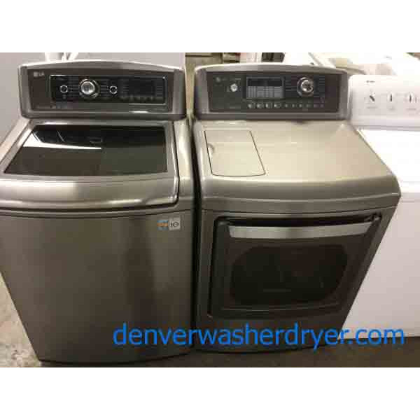 Lovely LG Top-Load Washer, Electric Dryer, Newer Models, Amazing Set! 1-Year Warranty!