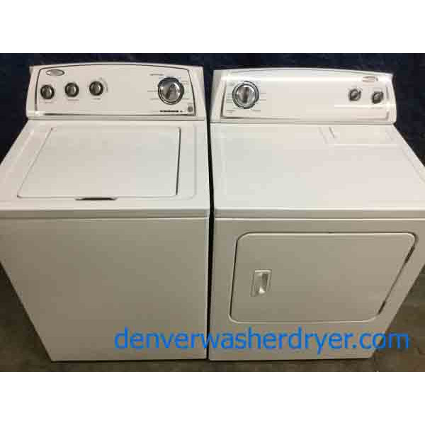 Astounding Whirlpool Full Size Laundry Set, Electric, 1-Year Warranty