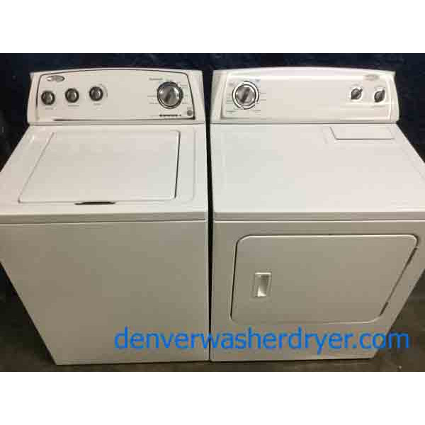 Full-Sized Whirlpool Washer Dryer Set, Electric, Agitator, 1-Year Warranty!