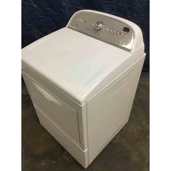 Modern Whirlpool Electric Dryer, 27″ Wide, AccuDry Sensor Drying, 1-Year Warranty!
