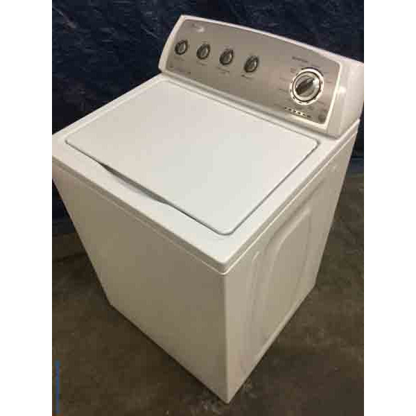 Slick Whirlpool Washer, Full Sized, Energy Star, HE, 9 Cycles, 1-Year Warranty