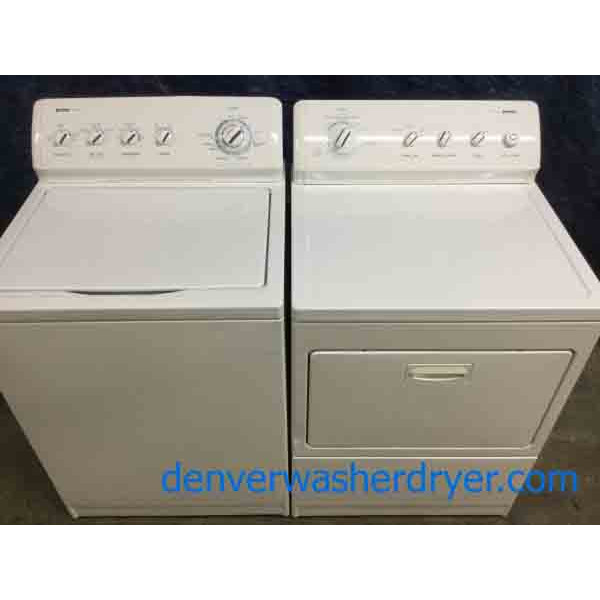 KING Size Kenmore Washer Dryer Set, Electric, Heavy-Duty Direct-Drive, Quality Refurbished Appliances