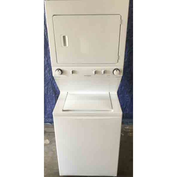 Newer Full-Sized Frigidaire Stackable(Unitized) Laundry Center, 27″ Wide, Electric, 1-Year Warranty