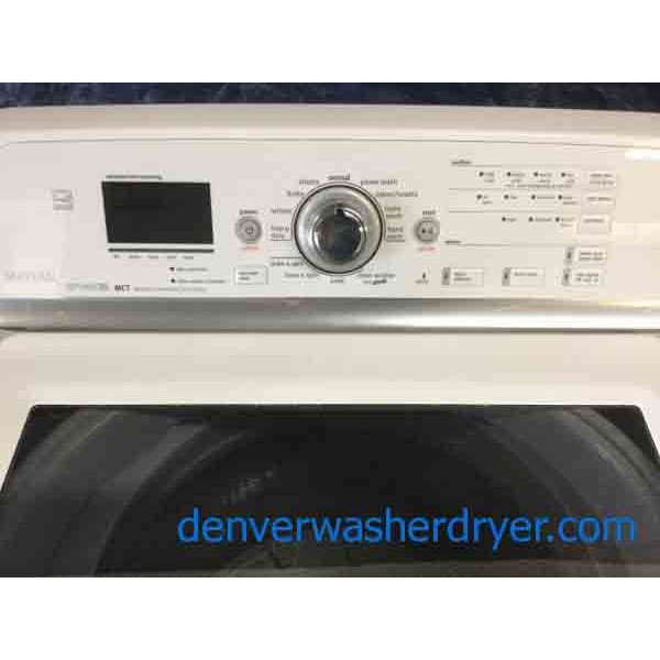 High End Maytag Bravos Set Direct Drive Electric Steam