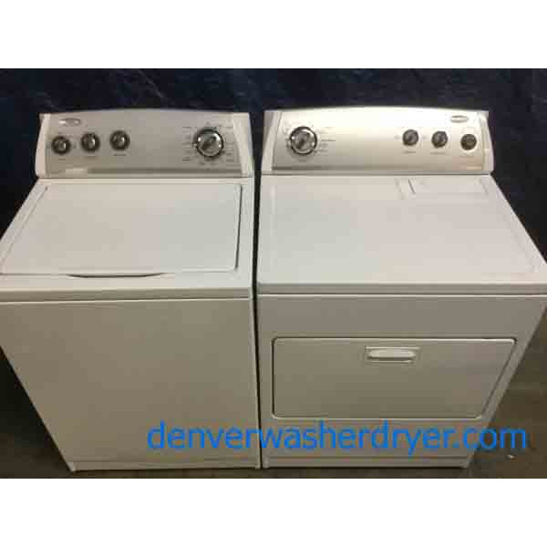 Direct-Drive Whirlpool Laundry Set, Electric, Super Capacity, 1-Year Warranty!