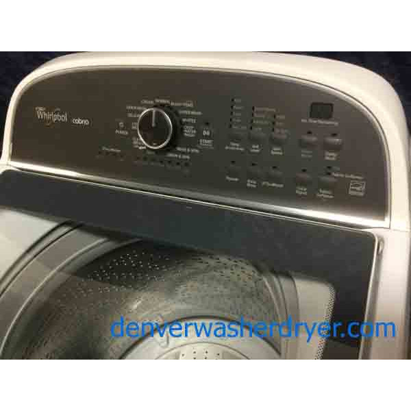 Super Modern Whirlpool Washing Machine, Energy Star, 1-Year Warranty!–Modern Whirlpool Electric Dryer, 27″ Wide, AccuDry Sensor Drying, 1-Year Warranty!