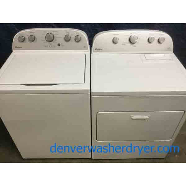Newer Whirlpool Washer, Electric HE Dryer w/Steam, 1-Year Warranty!