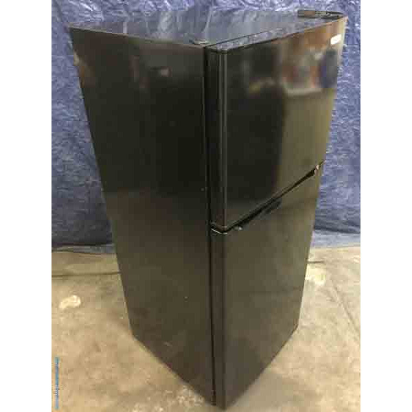 Small, Black 9.9 Cu. Ft. Refrigerator, Top-Mount, Vissani, 1-Year Warranty