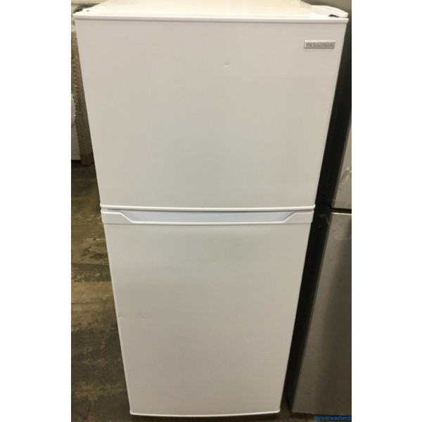 Used White Smaller (10 Cu. Ft.) Refrigerator, Clean and Cold, Insignia (LG), 1-Year Warranty!