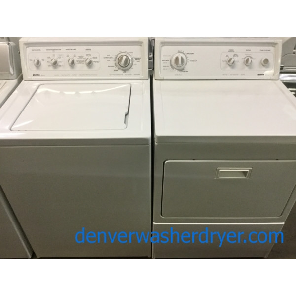 The Best Kenmore 90-Series Set Ever Made, 27″ Top-Load Washer & 27″ Electric Dryer, Quality Refurbished, 1-Year Warranty