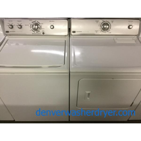Kenmore Elite Washer Dryer Set King Sized Capacity Beige