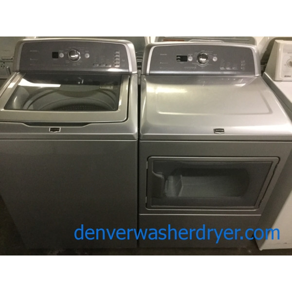 Mighty Maytag Bravos X-Series Laundry Set, Energy-Star HE Washer, Electric 27″ Dryer, Quality Refurbished!