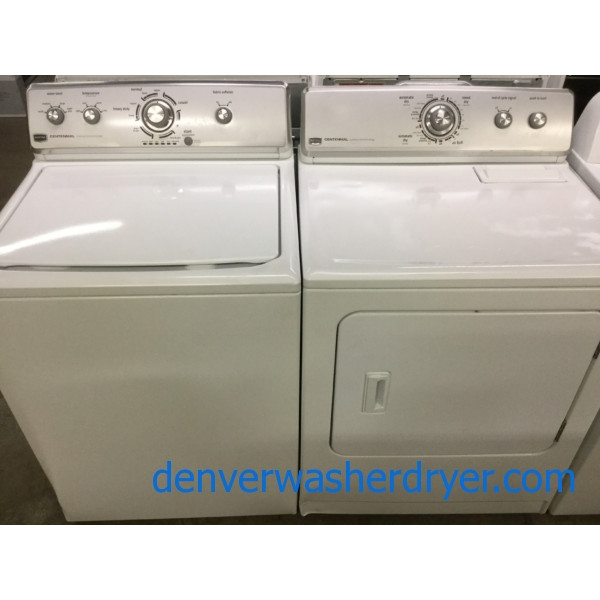 Used Maytag Centennial Washer Dryer Set, Electric, Full-Sized, Quality Refurbished, 1-Year Warranty!