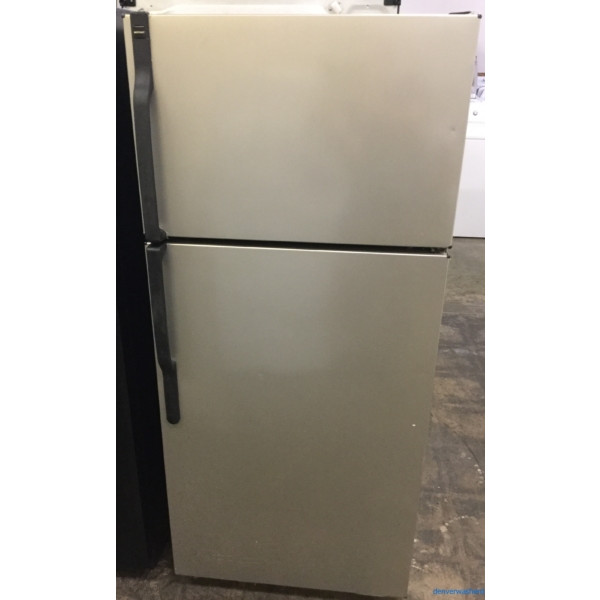 Hotpoint (GE) Smudge-Proof Stainless Top-Mount Refrigerator, 17 cu. ft., Works Great, 1-Year Warranty!