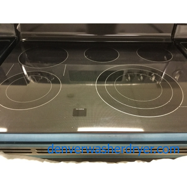 NEW! Stainless GE Profile Range, WiFi, Glass-Top Stove, Convection Oven, Flawless!