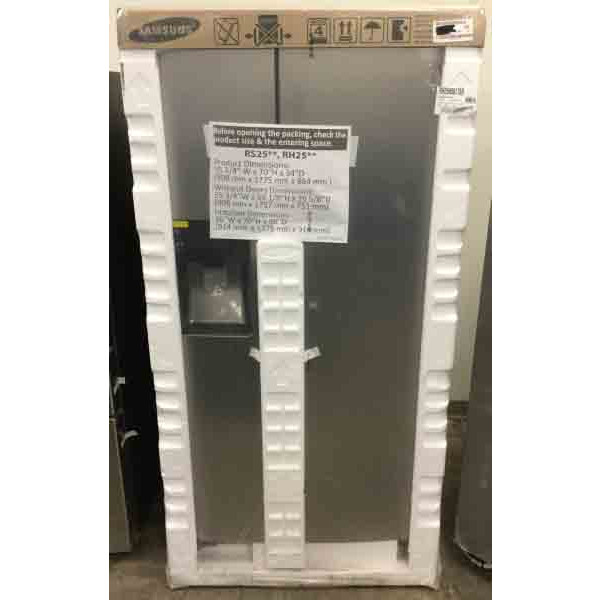 New-In-Box Samsung Refrigerator, Stainless, 24.7 Cu. Ft.