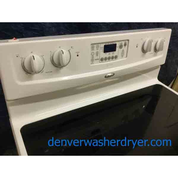 Slick White Glass Top Stove 30 Quot Whirlpool Electric 1