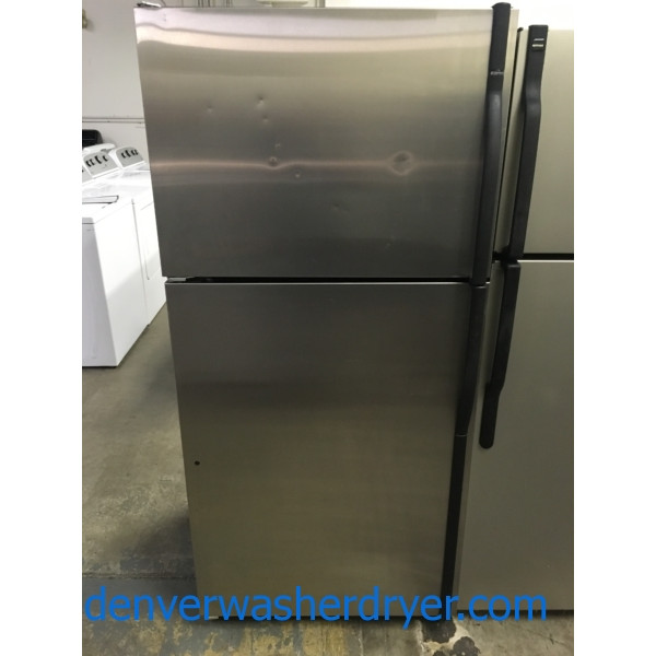 Cool Kenmore Top-Mount Stainless Refrigerator, Minor Dents, 18 Cu. Ft., 1-Year Warranty!