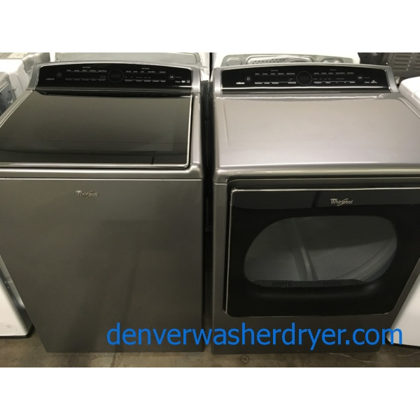 Quality Refurbished 27″ Whirlpool Top-Load Washer & Electric Dryer, 1-Year Warranty