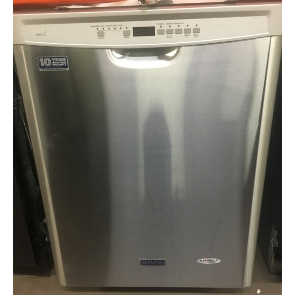 BRAND-NEW Maytag Stainless 24″ Built-In Dishwasher w/Stainless Tub & Power-Blast Cycle, 1-Year Warranty