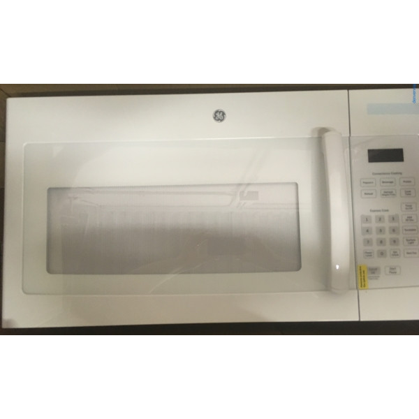 Brand-New White GE Over-the-Range Microwave, 1-Year Warranty