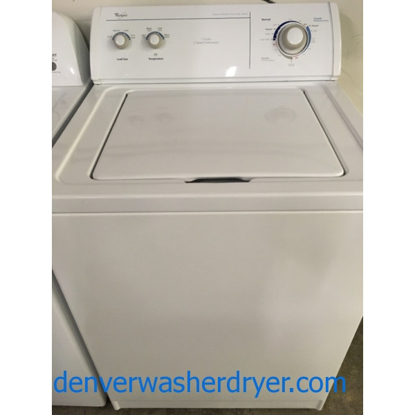 X-L Capacity Quality Refurbished Direct-Drive 27″ Whirlpool Top-Load Washer w/Agitator, 1-Year Warranty